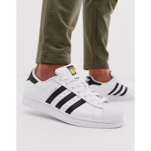 アディダス adidas Originals メンズ スニーカー シューズ・靴 Superstar Foundation trainers in white ホワイト fermart