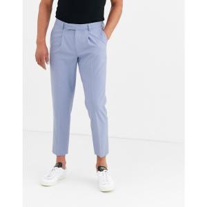 エイソス ASOS DESIGN メンズ クロップド ボトムス・パンツ slim cropped smart trousers in blue ライラック|fermart