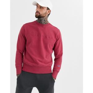 チャンピオン Champion メンズ スウェット・トレーナー トップス Reverse Weave faded logo crewneck sweatshirt in pink ピンク fermart
