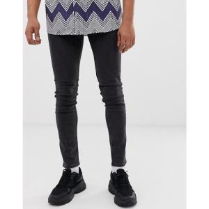 チープマンデー Cheap Monday メンズ ジーンズ・デニム ボトムス・パンツ tight skinny jeans in key black Black|fermart