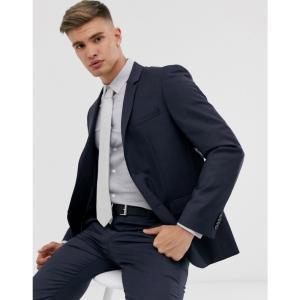 カルバンクライン Calvin Klein メンズ スーツ・ジャケット アウター textured slim fit suit jacket Navy|fermart