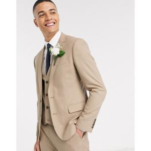 エイソス ASOS DESIGN メンズ スーツ・ジャケット アウター skinny suit jacket in stone ベージュ fermart