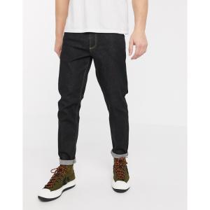エイソス ASOS DESIGN メンズ ジーンズ・デニム ボトムス・パンツ stretch tapered jeans in flat washed black ウォッシュブラック|fermart
