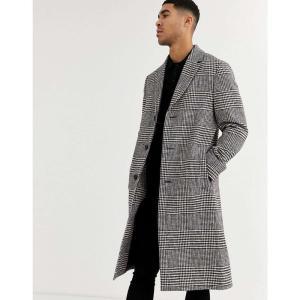 カルバンクライン Calvin Klein メンズ コート ロングコート アウター glencheck long coat レッド|fermart