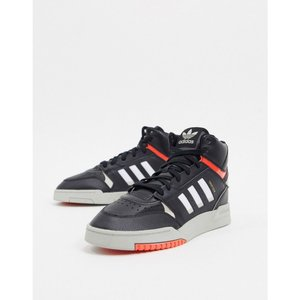 アディダス adidas Originals メンズ スニーカー シューズ・靴 Drop Step Hi Top Trainers With Gum Sole ブラック|fermart