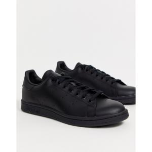 アディダス adidas Originals メンズ スニーカー スタンスミス シューズ・靴 Stan Smith trainers in triple black ブラック|fermart