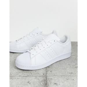 アディダス adidas Originals メンズ スニーカー シューズ・靴 Superstar Foundation trainers in triple white ホワイト fermart