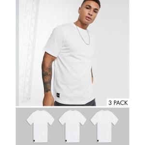 ネイティブユース Native Youth メンズ Tシャツ 3点セット トップス oversized 3 pack t-shirt ホワイト|fermart