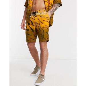 ネイティブユース Native Youth メンズ ショートパンツ ボトムス・パンツ Co-Ord Short Animal Print Animal Tiger Print オレンジ|fermart