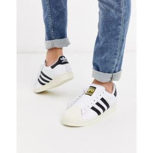 アディダス adidas Originals メンズ スニーカー シューズ・靴 laceless Superstar trainers in white fermart