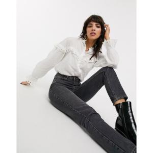 オブジェクト Object レディース ブラウス・シャツ トップス prairie blouse with ruffle crochet trims in white ホワイト|fermart