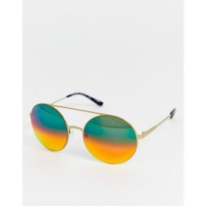 マイケル コース MICHAEL Michael Kors レディース メガネ・サングラス ラウンド Michael Kors round frame sunglasses ゴールド|fermart