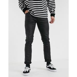 ヌーディージーンズ Nudie Jeans メンズ ジーンズ・デニム ボトムス・パンツ Grim Tim slim straight fit coated jeans in dry black mind ブラック|fermart