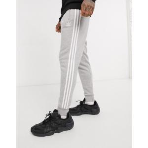 アディダス adidas Originals メンズ ジョガーパンツ ボトムス・パンツ joggers in grey with 3 stripes|fermart