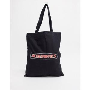 エイソス ASOS DESIGN メンズ トートバッグ バッグ organic cotton tote bag in black with text print ブラック fermart