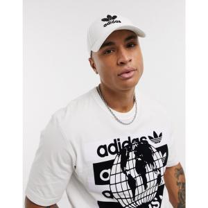 アディダス adidas Originals メンズ キャップ 帽子 trefoil cap in white ホワイト|fermart