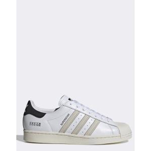 アディダス adidas Originals メンズ スニーカー シューズ・靴 Sigseries superstar trainers with subtle branding in white ホワイト fermart