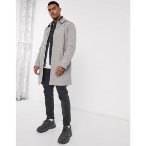 エイソス ASOS DESIGN メンズ トレンチコート アウター lightweight trench coat in light grey ライトグレー|fermart