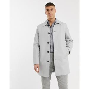 エイソス ASOS DESIGN メンズ トレンチコート アウター Asos Design Single Breasted Trench Coat In Grey グレー|fermart
