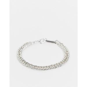 WFTW メンズ ブレスレット ジュエリー・アクセサリー chunky chain bracelet in silver シルバー|fermart