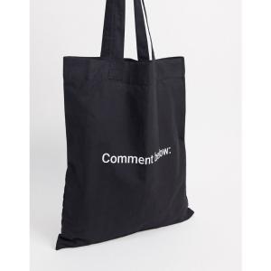 エイソス ASOS DESIGN メンズ トートバッグ バッグ tote bag in black with mini text print ブラック fermart