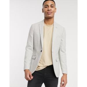 トップマン Topman メンズ スーツ・ジャケット アウター blazer in light grey グレー fermart