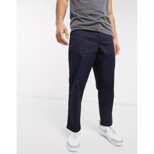 ファーラー Farah メンズ クロップド ボトムス・パンツ Hawtin cropped fine twill trousers ネイビー|fermart