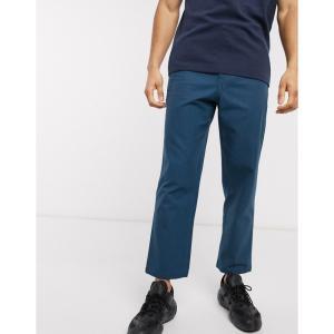 ファーラー Farah メンズ クロップド ボトムス・パンツ Hawtin cropped trousers ブルー|fermart