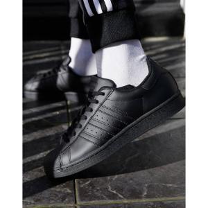 アディダス adidas Originals メンズ スニーカー シューズ・靴 Superstar trainers in triple black ブラック fermart