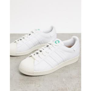 アディダス adidas Originals メンズ スニーカー シューズ・靴 Clean Classics Sustainable Superstar trainers in white ホワイト fermart