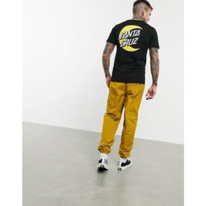 サンタクルーズ Santa Cruz メンズ Tシャツ トップス Organic Moon Dot t-shirt in black ブラック|fermart