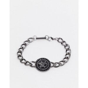 WFTW メンズ ブレスレット チャーム ジュエリー・アクセサリー bracelet in gunmetal with doberman design charm and stone detail ガンメタル|fermart