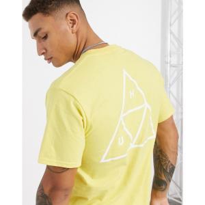 ハフ HUF メンズ Tシャツ トップス Essentials Triple Triangle t-shirt in yellow イエロー|fermart