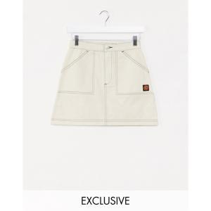 サンタクルーズ Santa Cruz レディース ミニスカート スカート Bail Skate skirt in beige Exclusive at ASOS クリーム|fermart