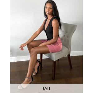 パリジャン Parisian Tall レディース ミニスカート スカート satin mini skirt in pink ピンク|fermart