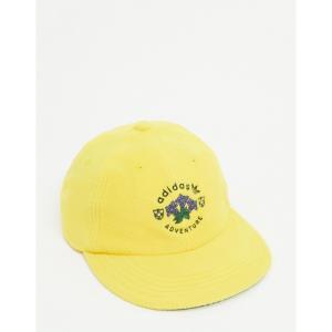 アディダス adidas Originals メンズ 帽子 fleece adventure cap in yellow イエロー|fermart