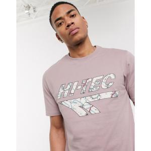 ハイテック Hi-Tec メンズ Tシャツ トップス h chest print t-shirt in mauve ソフト パープル|fermart