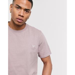 ハイテック Hi-Tec メンズ Tシャツ トップス h embroidered badge logo heavyweight t-shirt in mauve ソフト パープル|fermart