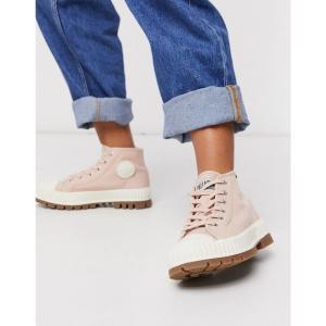 パラディウム Palladium レディース ブーツ ショートブーツ チャンキーヒール シューズ・靴 Pallashock Chunky Flat Ankle Boots In Pink ピンク|fermart