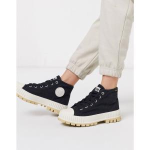 パラディウム Palladium レディース ブーツ ショートブーツ シューズ・靴 Pallashock chunky flat ankle boots in black ブラック|fermart