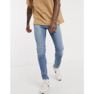 ホリスター Hollister メンズ ジーンズ・デニム ボトムス・パンツ super skinny fit jeans in bright medium ブルー|fermart
