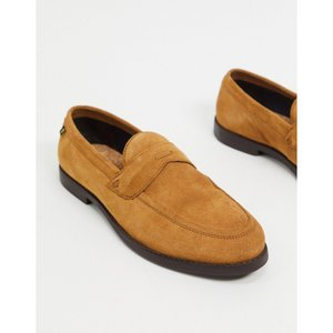 ファーラー Farah メンズ ローファー シューズ・靴 suede loafers in tan fermart