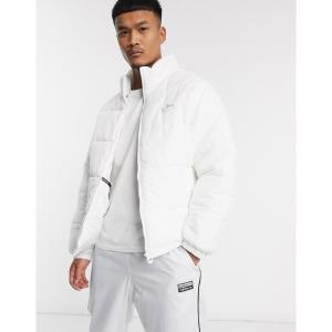 アディダス adidas Originals メンズ ダウン・中綿ジャケット スタンドカラー アウター padded jacket with stand collar in white ホワイト|fermart