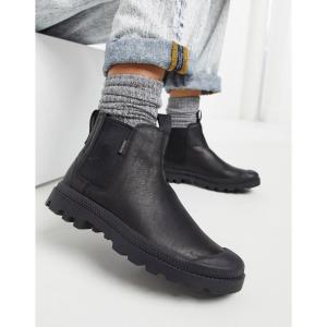 パラディウム Palladium レディース ブーツ チェルシーブーツ シューズ・靴 Pampa leather chelsea boots in black ブラック/ブラック|fermart