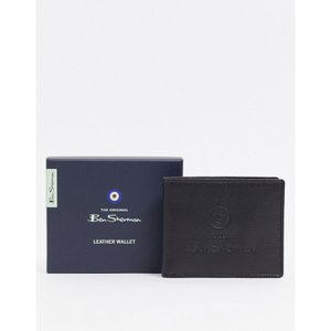 ベンシャーマン Ben Sherman メンズ 財布 leather wallet ブラック|fermart