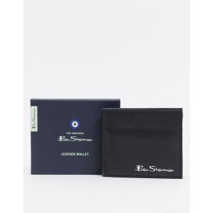 ベンシャーマン Ben Sherman メンズ 財布 RFID leather coin wallet ブラック|fermart