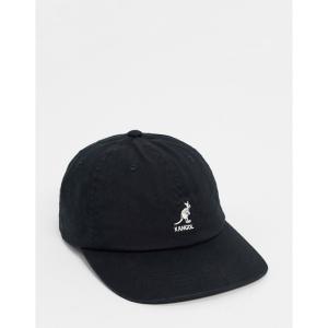 カンゴール Kangol メンズ キャップ ベースボールキャップ 帽子 Baseball Cap In Washed Black ブラック|fermart