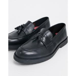 トップマン Topman メンズ ローファー チャンキーヒール シューズ・靴 chunky loafers in black ブラック fermart