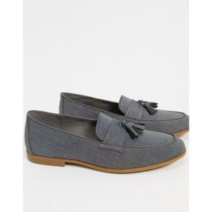 トップマン Topman メンズ ローファー シューズ・靴 tassel loafers in grey グレー fermart