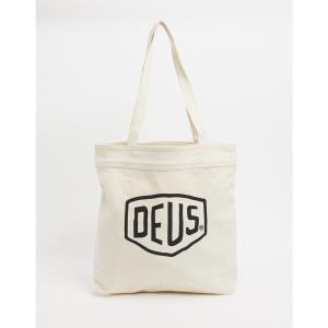デウス エクス マキナ Deus Ex Machina メンズ トートバッグ バッグ Classics logo tote bag in white ホワイト fermart